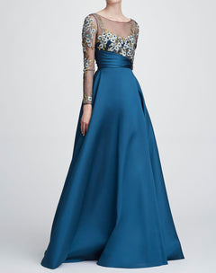 Load image into Gallery viewer, Long Sleeve Ball Gown