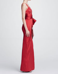 Load image into Gallery viewer, Sleeveless two-toned column gown
