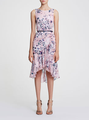 Sleeveless Printed Chiffon Cocktail