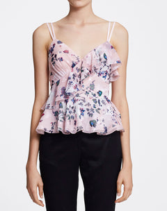 Load image into Gallery viewer, Sleeveless V-neck peplum top