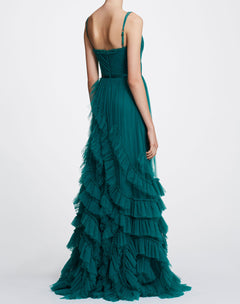 Load image into Gallery viewer, Sleeveless Textured Tulle Gown