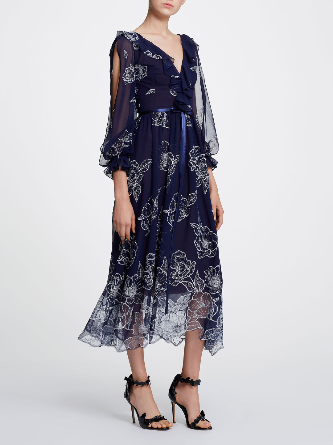Floral Chiffon Gown