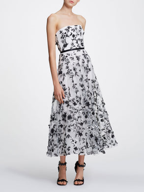 Strapless Embellished Tea-length