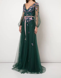 Load image into Gallery viewer, Bishop Sleeve Beaded Gown