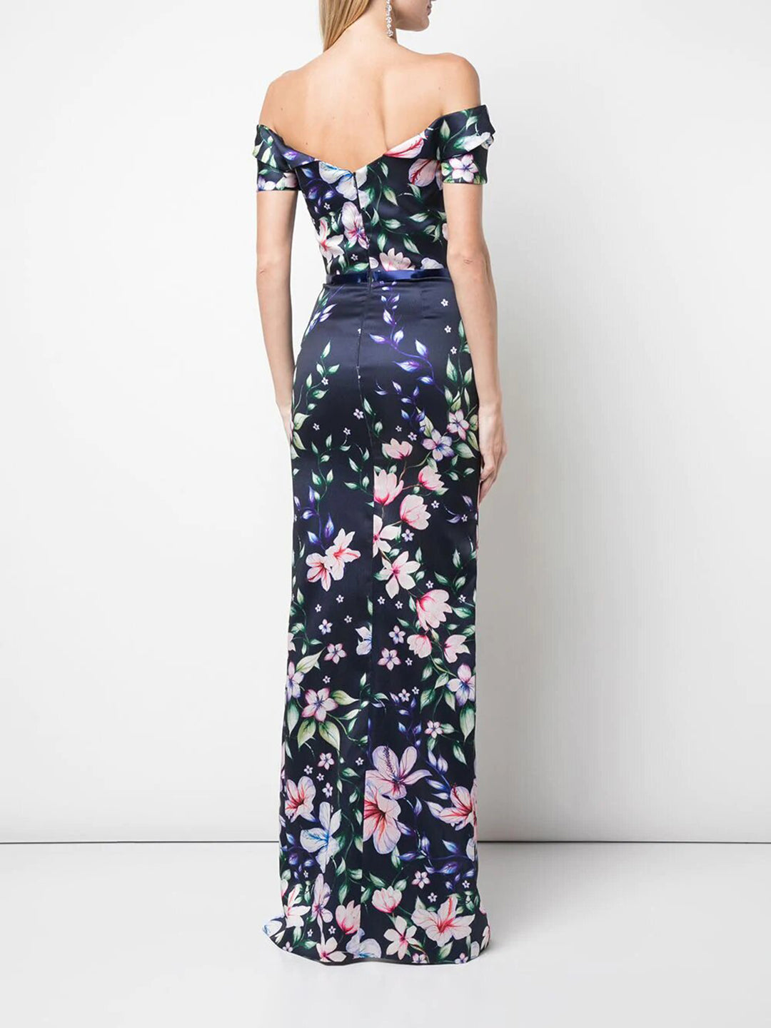 Off-the-Shoulder Mikado Gown