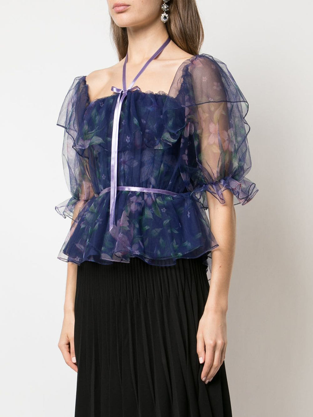 Off-the-Shoulder Tulle Top