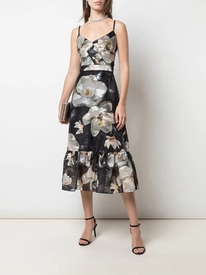 Printed Fils Coupe Cocktail Dress