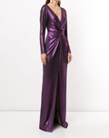 Load image into Gallery viewer, Long Sleeve Metallic Gown
