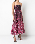 Load image into Gallery viewer, Draped Floral Print Organza Tulle Dress