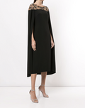 Load image into Gallery viewer, Embroidered Cape Dress