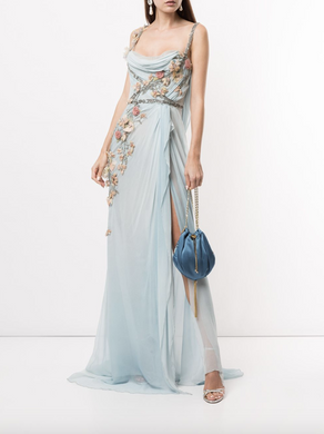 Softly Draped Grecian Gown