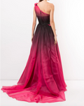 Load image into Gallery viewer, One-Shoulder Ombré Ballgown