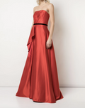 Load image into Gallery viewer, Strapless Satin Draped Silk Ballgown