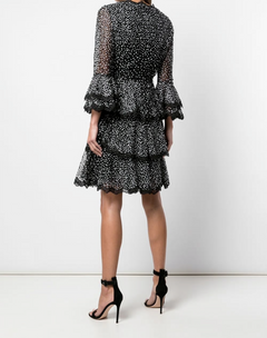 Load image into Gallery viewer, Bell Sleeve And Tiered Skirt cocktail dress