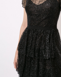 Load image into Gallery viewer, Short Sleeve Tiered Glitter Dress