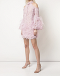 Load image into Gallery viewer, Feather Embellished Cocktail Dress