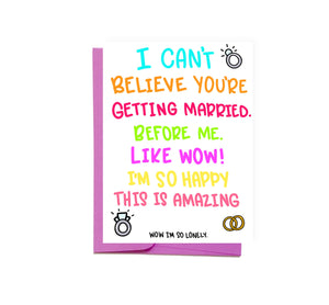 Married Before Me Card