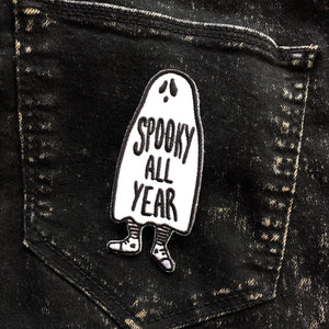 """Spooky All Year"" Iron On Patch"