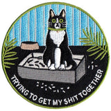 Trying to Get My Shit Together Cat Patch