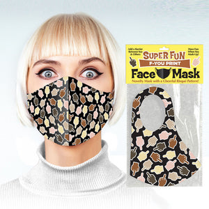 Middle Fingers Face Mask