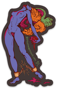 "Awakening Ritual ""Chain Breaker Goddess"" (Psychedelic) - Sticker"
