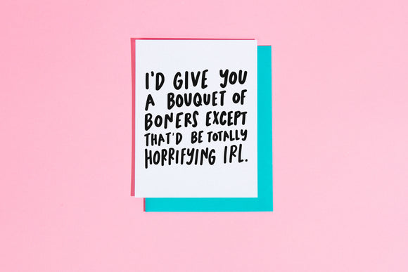 'Bouquet of Boners' Card