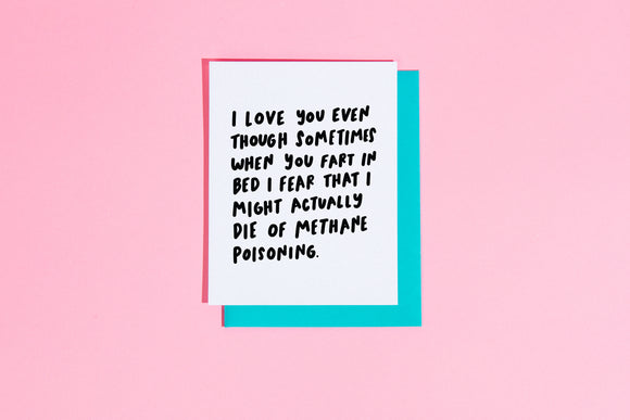 'Sometimes When You Fart in Bed' Card
