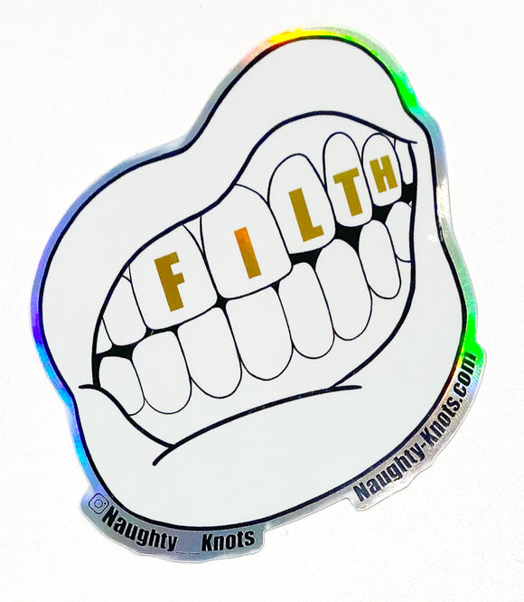 Filth Mouth Sticker