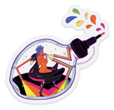 Rainbow Bottle Sticker