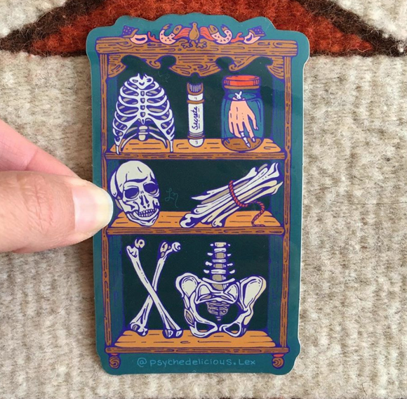 Skeleton Closet Sticker