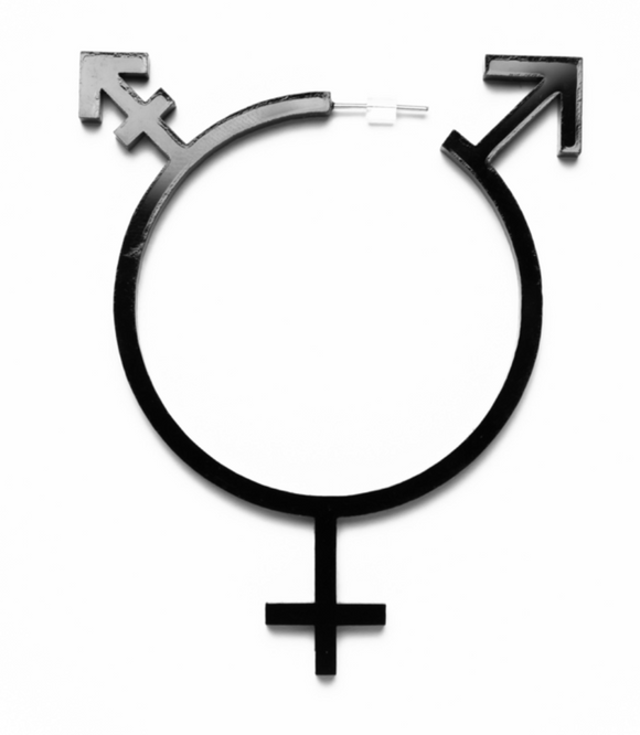 Transgender Symbol Acrylic Hoop Earrings