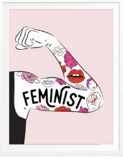 Feminist Tattoo Sleeve Print