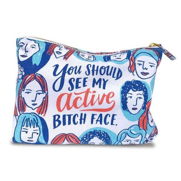 Active Bitch Face Zippy Pouch