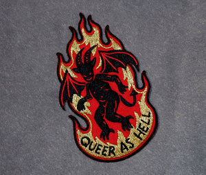 Queer As Hell - Embroidered Patch
