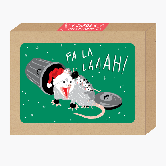 Fa La La Possum Card Boxed Set