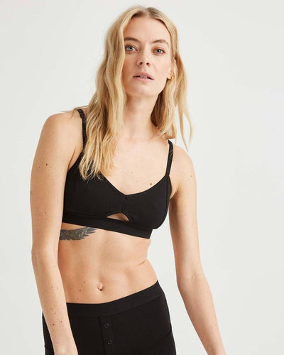 Cutout Soft Cotton Bralette by Richer Poorer