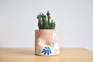Cutout Tops Planter- light tone- by Group Partner