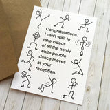 'White People Dance Moves' Wedding Card