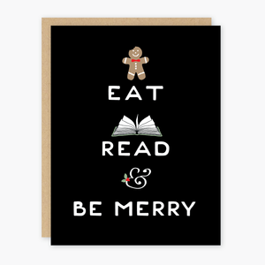 Eat, Read, Be Merry Holiday Card