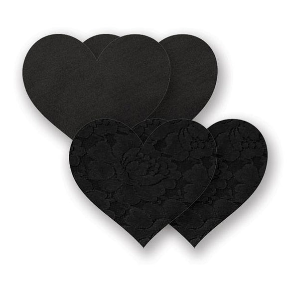 Nippies Basics Black Hearts Pasties (2 Pair)