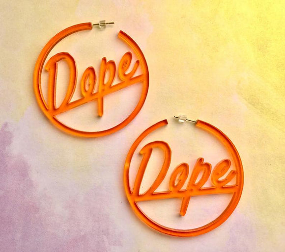 Dope Acrylic Hoop Earrings