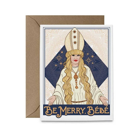 'Be Merry, Bébé' Moira Holiday Card