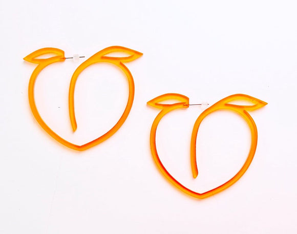 Peachy Acrylic Hoop Earrings