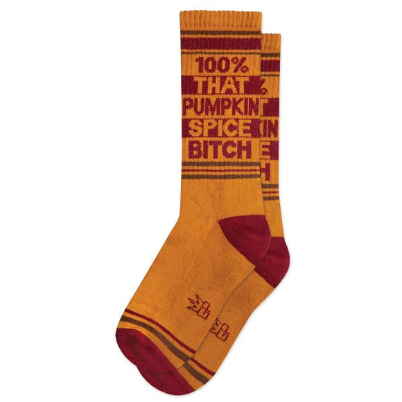 '100% That Pumpkin Spice Bitch' Ribbed Gym Socks