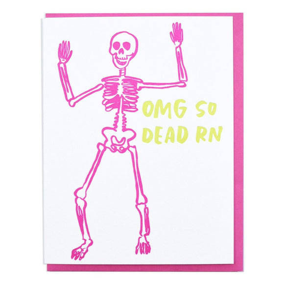 'So Dead RN' Skeleton Card