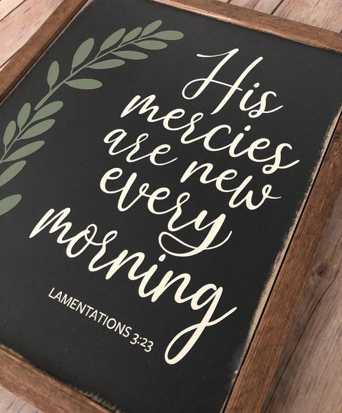"His Mercies are New Every Morning - 13""x15"""