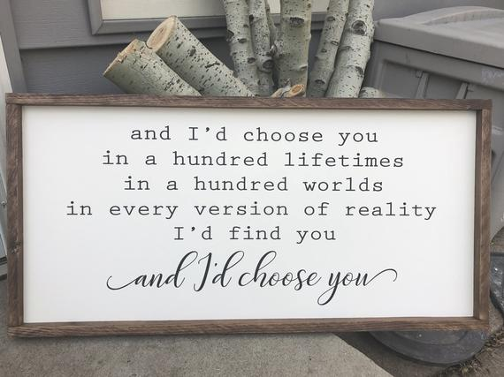 "I'd Choose You - 18""x36"""