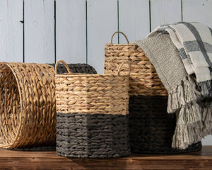 Ariana Natural Basket - Black