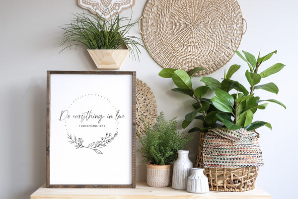 Do Everything in Love Printable Art