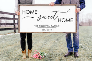 Home Sweet Home Family Name Sign